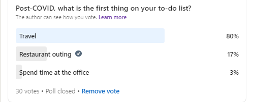 Use LinkedIn polls to keep your posting fresh and gain marketplace intelligence